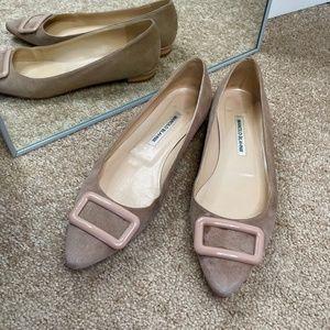 Manolo Blahnik Shoes Suede Flats Size 40